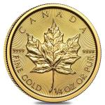 Zlatá minca Maple Leaf 1/4 Oz 2019