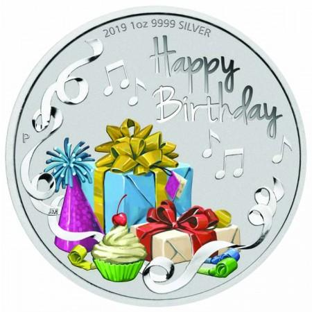 1 Dollar stříbrná mince -Happy Birthday!UN