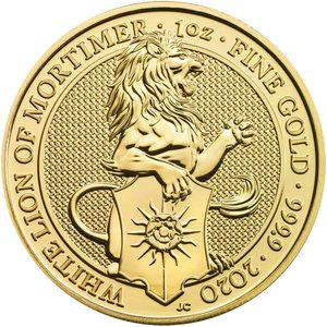 Zlatá investičná minca The Queen 's Beasts The White Lion 1 Oz 2020